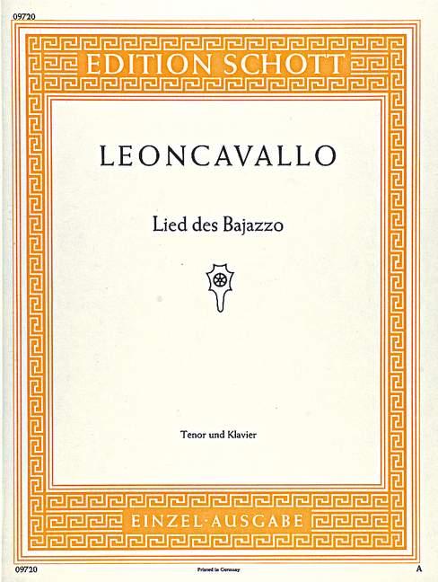Ruggiero tenor and piano 9790001092289 Vesti la giubba Leoncavallo